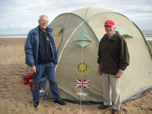 Rotarians David Black and Bud Shields with our ShelterBox