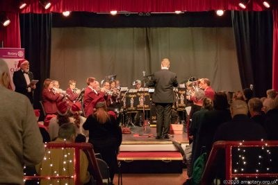 Mablethorpe Rotary Carol Concert 2018 Alford Silver Band Performing