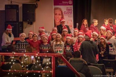 Mablethorpe Rotary Carol Concert 2018 Huttoft School Choir