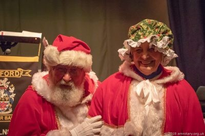 Mablethorpe Rotary Carol Concert 2018 Mr and Mrs Claus